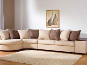 Перетяжка углового дивана на дому в Коломне